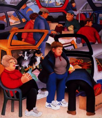 """Car Boot Sale"" by Beryl Cook , Bargains galore"