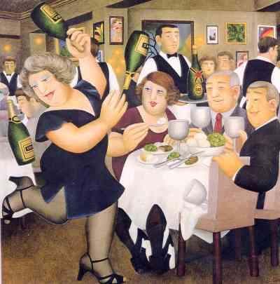 """""""Dining-out"""" by Beryl Cook"""