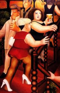 """Staircase"" by Beryl Cook, Beer & Hotpants"