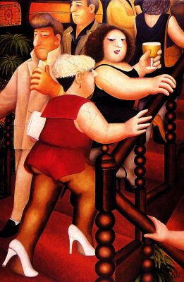 """""""Staircase"""" by Beryl Cook, Beer & Hotpants"""
