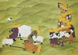 Fleeced by Irene George Yellow hat tribe