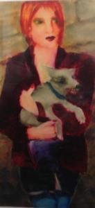 Dog Walker by Inge Clayton FRSA