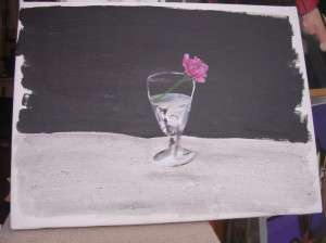 """Pink Rose 11"" Representational Abstract"