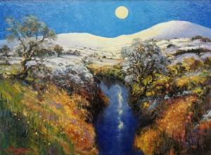 Moonlit River by Bernard Willington