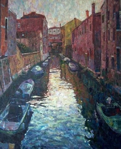 Venice Canal Sunset by Hashim Akib