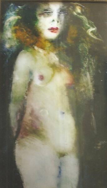 """Dolores"" Nude by Inge Clayton. Oil on Plexi Glass Reversed"