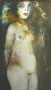"""""""Dolores"""" Nude by Inge Clayton. Oil on Plexi Glass Reversed"""