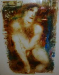 """Oona"" Original Painting on reverse Glass by Inge Clayton"