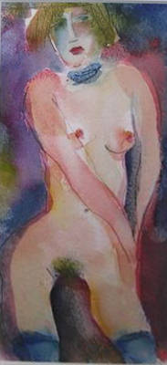 Watercolour Sketch for Madam by Inge Clayton