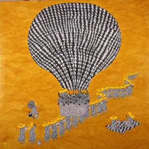 Basket Full of Zebras by Irene George