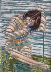 Thoughtful nude study by Krys Leach
