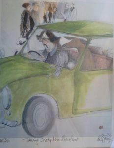 Tottering Down Sloane Street Chelsea by Sue Macartney Snape