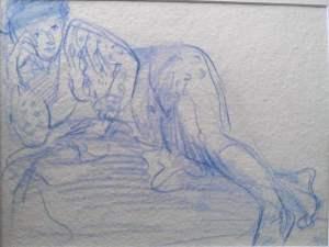 Blue Head Study by Stephen Spicer