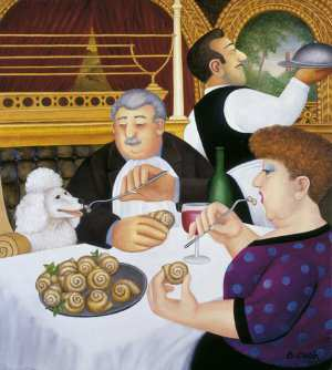 """""""Dining-in-Paris"""" by Beryl Cook"""