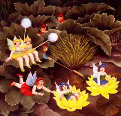 """Fairies-and-Pixies"" by Beryl Cook"
