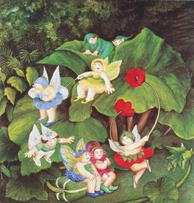 """Fairy-Dell"" by Beryl Cook"