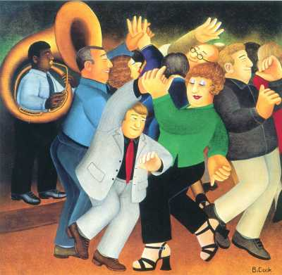"""Jiving to Jazz"" by Beryl Cook"