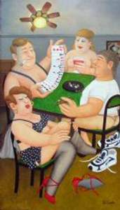 "Strip-Poker"" by Beryl Cook"