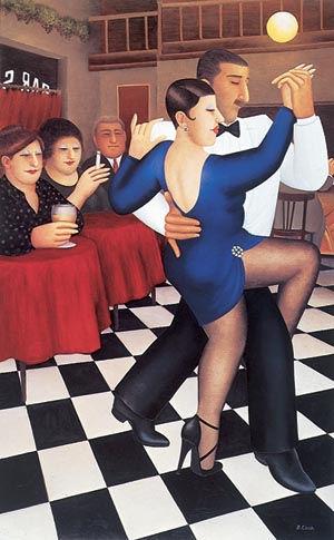 """""""Tango-bar Sur"""" by Beryl Cook"""