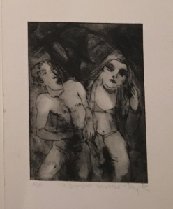 """Midnight Shuffle """" A/P Mono Etching 11""""x8"""" £495 as framed"""