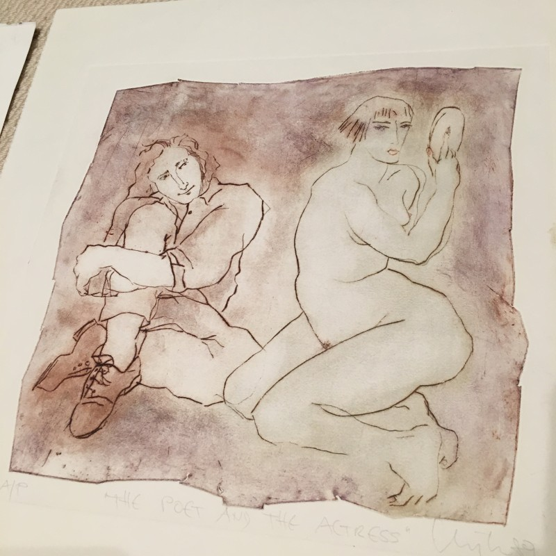 Poet & Actress by Inge Clayton Etchings FRSA