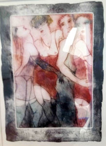 """Rogues & Sinners"""" Etching by Inge Clayton"""