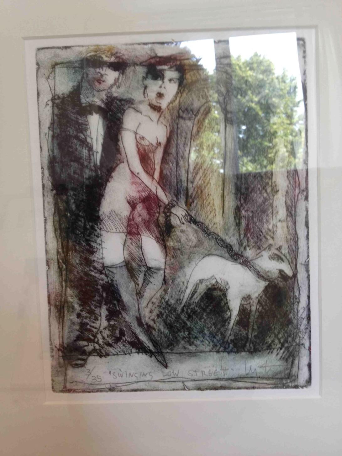 """Swing Low Street"""" Aquatint Etching by Inge Clayton FRSA"""