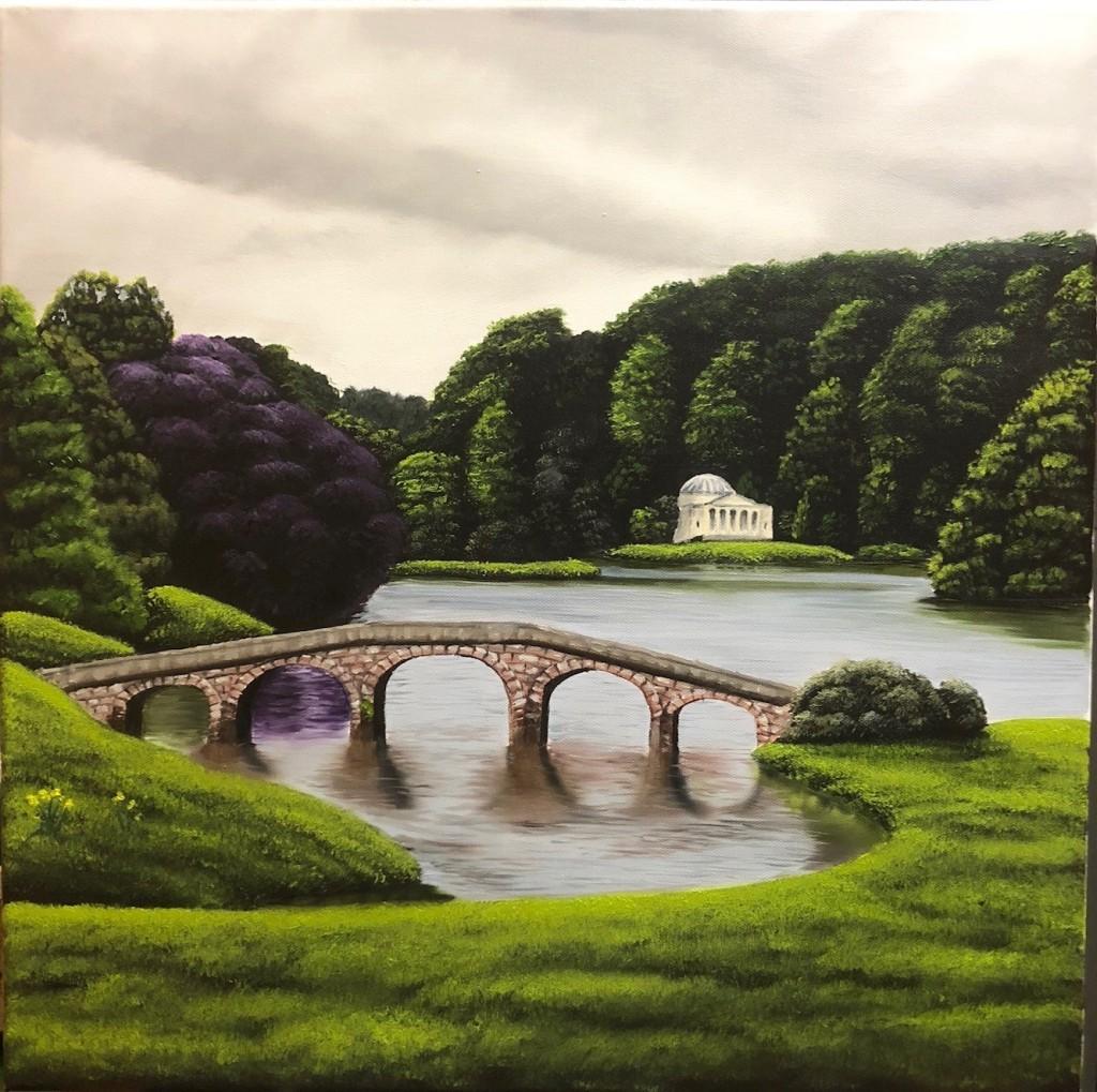 Stour Bridge landscape Wiltshire
