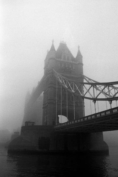 Tower Bridge in Fog by Ola Tuvesson