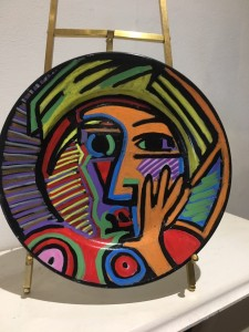 Hand Painted & Crafted Ceramic Plate by Richard Gower