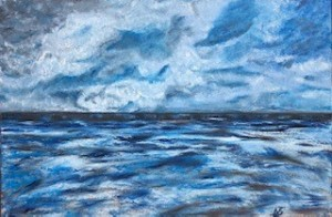 Storm Scape Cornwall by Josephine Hacking